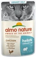 Almo Nature Holistic Urinary Help - паучи для профилактики мочекаменной болезни у кошек с курицей (70 г)
