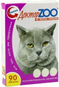 Доктор Zoo - мультивитаминное лакомство для кошек со вкусом говядины (90 таб.)