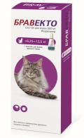 Бравекто капли спот-он от блох и клещей для кошек 6,25 - 12,5 кг (500 мг)