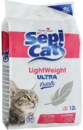Sepi Cat - облегченный комкующийся наполнитель ультра, Детская присыпка (12 л)