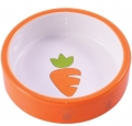 """КерамикАрт - керамическая миска для грызунов """"Морковь"""" (70 мл) оранжевая"""