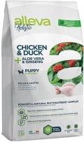 Alleva Holistic Chicken & Duck + Aloe vera & Ginseng Puppy Maxi - сухой беззерновой корм для щенков крупных пород Курица, Утка, Алое вера и Женьшень