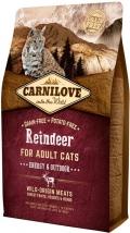 CarniLove Cat Reindeer Energy - сухой беззерновой корм для активных кошек с мясом северного оленя