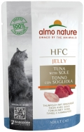 Almo Nature HFC Jelly - паучи для кошек с тунцом и камбалой в желе (55 г)