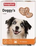 Beaphar - Беафар кормовая добавка Doggy's + Liver со вкусом печени для собак (75 таб.)