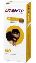 Бравекто - жевательная таблетка от клещей и блох для собак 2 - 4,5 кг (112,5 мг) 1 шт.