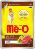 Me-O Adult - паучи для кошек с говядиной в желе (80 г)