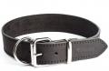 """Gripalle - Ошейник для собак из натуральной кожи """"Дакс"""" (2,5 x 35 см) стальная фурнитура, черный"""