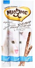Мнямс - лакомые палочки (13,5 см) для кошек с лососем и форелью (3 х 5 г)