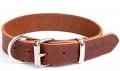 """Gripalle - Ошейник для собак из натуральной кожи """"Дакс"""" (2,5 x 35 см) стальная фурнитура, коньяк"""