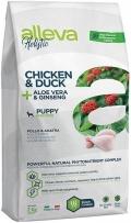 Alleva Holistic Chicken & Duck + Aloe vera & Ginseng Puppy Mini - сухой беззерновой корм для щенков мелких пород Курица, Утка, Алое вера и Женьшень