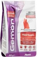 Gemon Cat Hairball - сухой корм для выведения шерсти для взрослых кошек с курицей и рисом