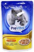 PreVital - Классик паучи для кошек в желе с курицей (100 г)