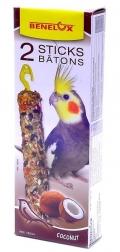 Benelux Sticks parakeet - Лакомые палочки с кокосом для длиннохвостых попугаев (2 шт.)