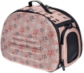 Ibiyaya - складная сумка-переноска для собак и кошек до 6 кг (бледно-розовая в цветочек)