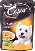 Cesar - Паучи для собак из курицы с зелеными овощами (100 г)