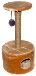 Дарэлл - Домик-когтеточка круглый малый, джут (37 x 37 x 76 см)