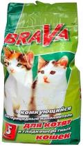 Brava - наполнитель минеральный комкующийся для короткошерстных кошек (5 л)