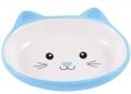 """КерамикАрт - керамическая миска для кошек """"Мордочка кошки"""" (160 мл) голубая"""