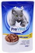 PreVital - Классик паучи для кошек в соусе с курицей (100 г)