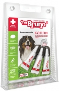 Mr. Bruno - Грин Гард капли отпугивающие внешних паразитов для крупных собак весом более 30 кг (3 пипетки по 4 мл)