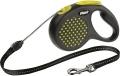 Flexi Design - рулетка S (до 12 кг) 5 м трос, горох (черный/желтый)