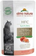 Almo Nature HFC Natural - паучи для кошек с лососем и тыквой (55 г)