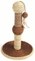 Уют - Когтеточка на подставке с игрушкой (30 x 46 см)