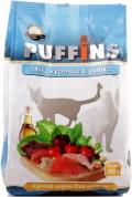 Puffins - сухой корм для взрослых кошек, микс курочка и рыбка