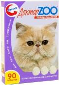 Доктор Zoo - мультивитаминное лакомство для кошек со вкусом лосося (90 таб.)
