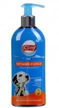 """Cliny - шампунь-кондиционер для короткошерстных собак """"Питание и блеск"""" (300 мл)"""