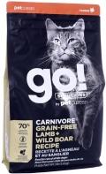 Go! Solutions Carnivore - сухой беззерновой корм для котят и кошек с ягненком и мясом дикого кабана