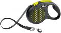 Flexi Design - рулетка S (до 15 кг) 5 м лента, горох (черный/желтый)
