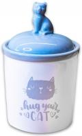 КерамикАрт Hug your cat - керамический бокс для хранения корма (1650 мл)