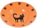КерамикАрт - керамическая миска-блюдце для кошек (140 мл) оранжевая