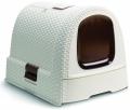 Curver - Туалет-домик для кошек (51 x 39 x 40 см) кремово-коричневый