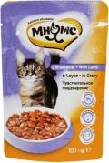 """Мнямс - пауч для кошек с ягненком """"Чувствительное пищеварение"""" в соусе (100 г)"""