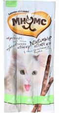 Мнямс - лакомые палочки (13,5 см) для кошек с уткой и кроликом (3 х 5 г)