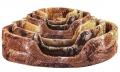 Дарэлл - Лежак овальный стёганый (64 x 51 x 17 см)