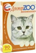 Доктор Zoo - мультивитаминное лакомство для кошек со вкусом копченостей (90 таб.)