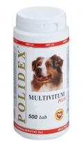 Polidex Multivitum Plus - Поливитаминно-минеральный комплекс для собак (500 таб.)