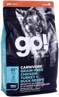 """Go! Solutions Carnivore - сухой беззерновой корм для собак всех возрастов """"4 вида мяса"""" с индейкой, курицей, лососем и уткой"""
