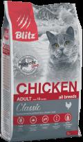 Blitz Classic Adult - сухой корм для кошек с курицей