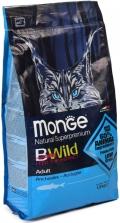 Monge BWild Anchovies - сухой корм для взрослых кошек с анчоусами