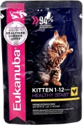 Eukanuba Kitten - пауч для котят с курицей в соусе (85 г)