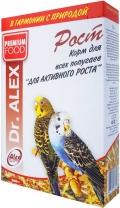 """Dr. Alex - корм для всех попугаев """"Рост"""" (500 г)"""