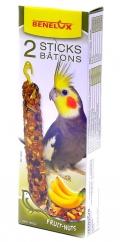 Benelux Sticks parakeet - Лакомые палочки с орехами и бананом для длиннохвостых попугаев (2 шт.)