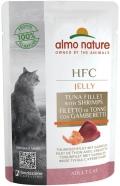Almo Nature HFC Jelly - паучи для кошек с тунцом и креветками в желе (55 г)