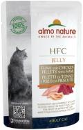 Almo Nature HFC Jelly - паучи для кошек с тунцом, курицей и ветчиной в желе (55 г)
