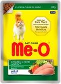 Me-O Adult - паучи для кошек с курицей в соусе (80 г)